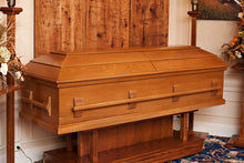 Casket Shell, Unfinished Oak, Your Design - CLEARANCE