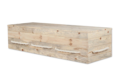 Casket Kit, Simple Pine Box, Rope Handles