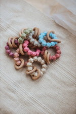 Load image into Gallery viewer, Abby Teething Rattle - Food Grade Silicone and Beech Wood