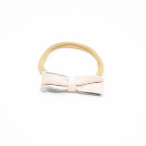 Hannah Leather Headband Bow