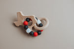 Load image into Gallery viewer, College Inspired Texas Rattle - Beech Wood & Food Grade Silicone