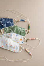 Load image into Gallery viewer, Children's Mask Lanyards - BPA Free Silicone & Beech Wood