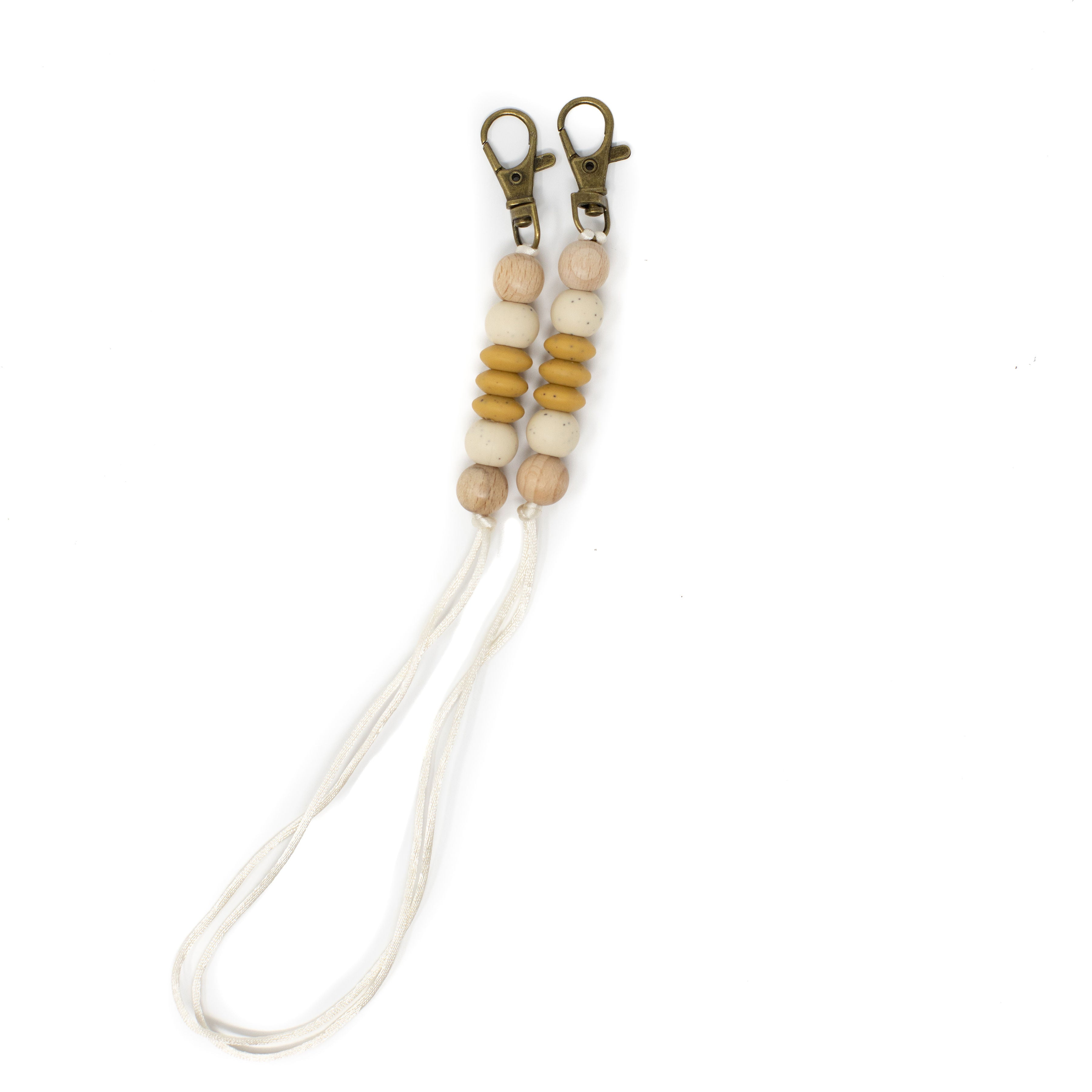 Children's Mask Lanyards - BPA Free Silicone & Beech Wood