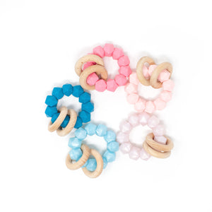 Abby Teething Rattle - Food Grade Silicone and Beech Wood