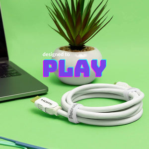 Hyperfast White - 8K HDMI 2.1 Cable in Soft CL3 Rated Wire