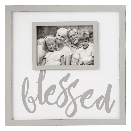 Blessed White Wash Frame