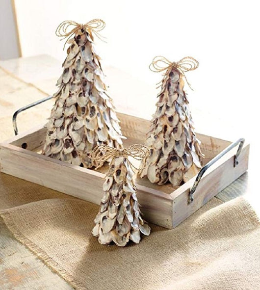 Mudpie Oyster Shell Tree- Set of 3