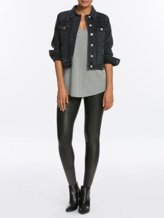 Faux Leather Leggings - Petite Length