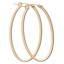 "enewton Oval Gold 2"" Hoop - Textured"