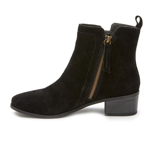 Savannah Suede Bootie - Black