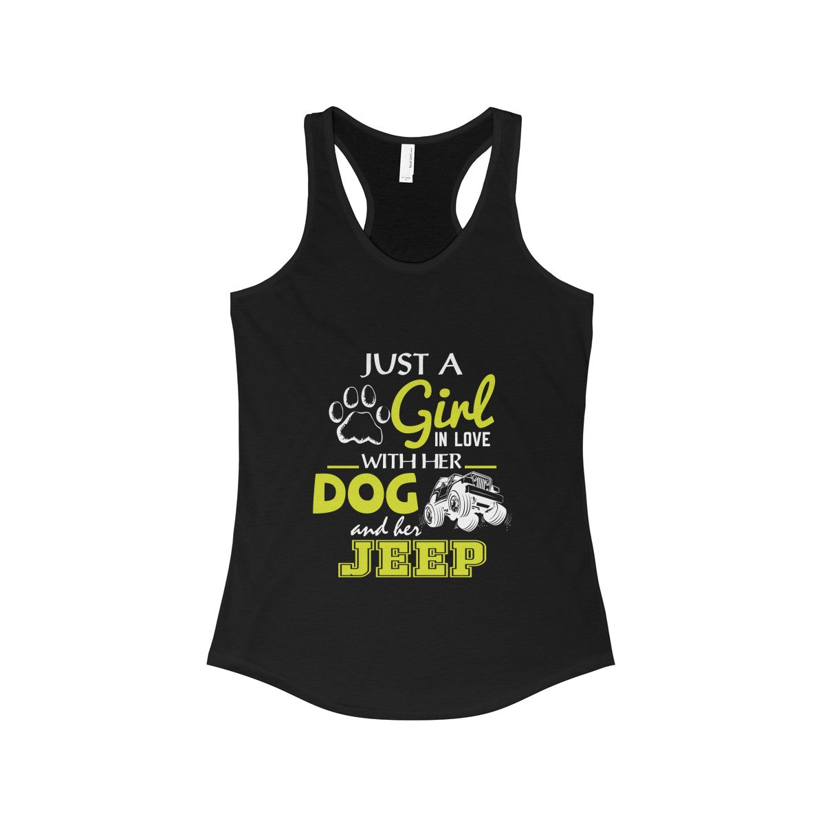 Just A Girl In Love With Her Dog And Jeep Funny Birthday Gift Womens Tank