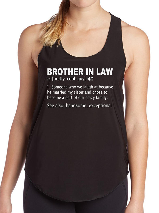 Funny Brother In Law Definition Gift Birthday Womens Tank