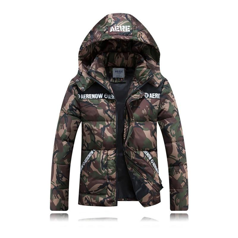 2018 - Men's Camouflage Winter Padded Jacket-BitTrend