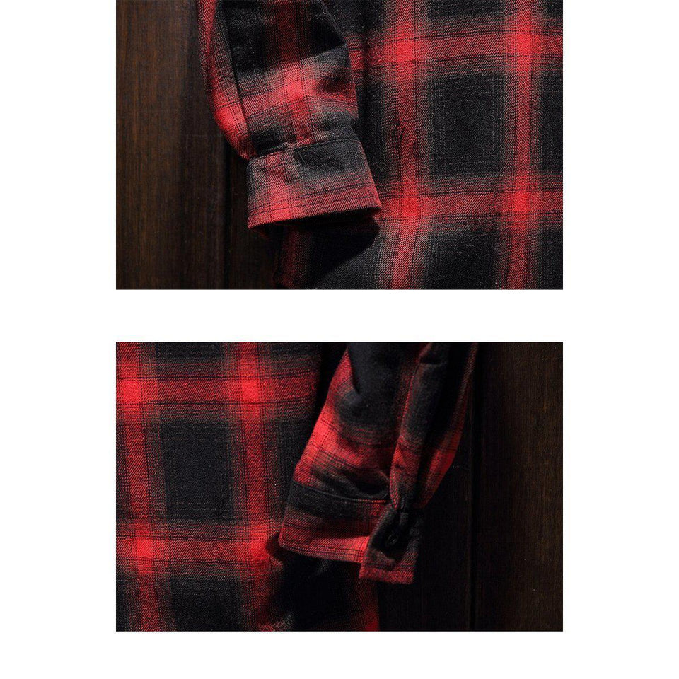 2018 - New Men's 'Teen Idol' 'Plaid Shirt-BitTrend
