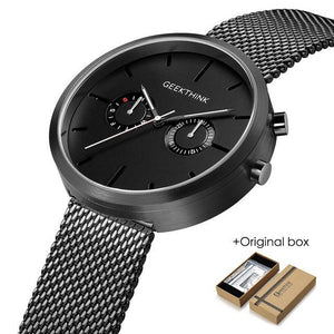 Black Dasher Chrono Watch-Watch-BitTrend