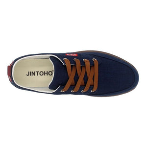 Men's 'Big B' Lace Up Canvas Shoes-BitTrend