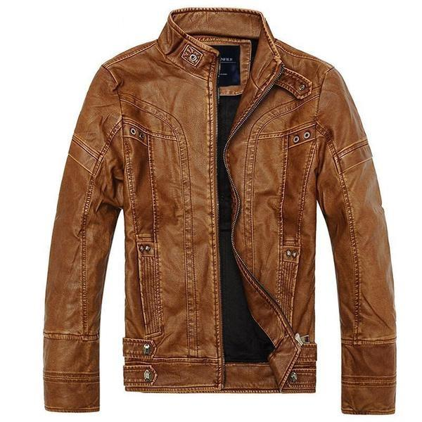 Charlie Leather Motorcycle Jacket-Jackets-BitTrend