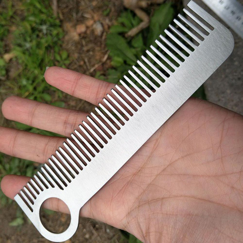 Stainless Steel Tactical Outdoor Comb-Equipment-BitTrend