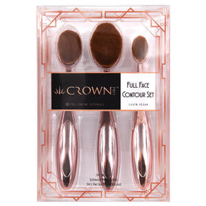Crown Brush-3pc Gold Rose Contour Set