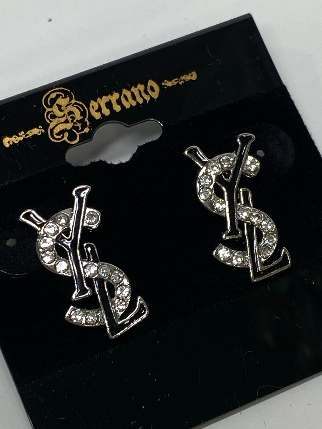 YSL Black & Silver Earrings