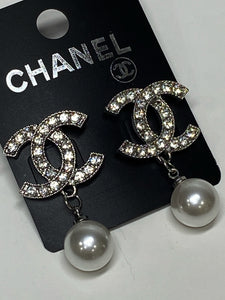 CC Pearl Earrings