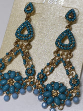 Teal Dangling Earrings