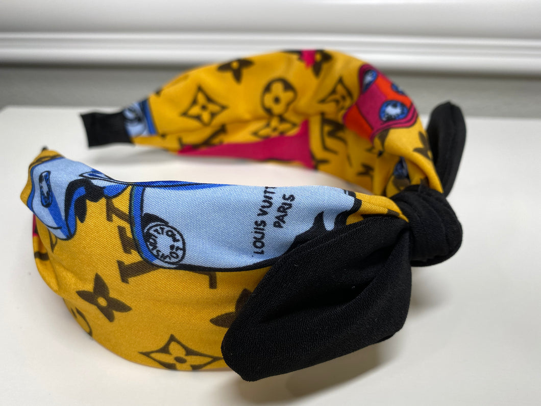 LV Bow Yellow Headband