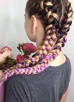 Chic Long Ombré Synthetic Jumbo Braids