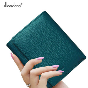 caea79d68397 Zuoerdanni 2016 New Arrival Genuine Leather Women Wallet Short Lady Wallets  Female Coin Small Purse Handbag