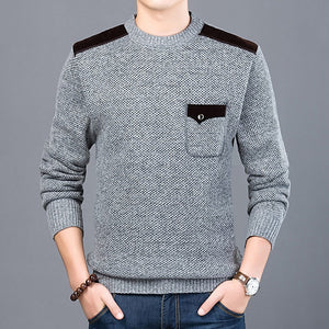 Sweater for Mens Pullovers Slim Fit Jumpers Knitwear O Neck Autumn Clothing