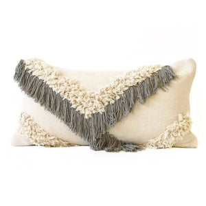 Shag Pillow - Silver Mist