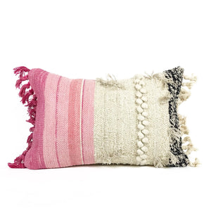 Fringe Pillow - Pink