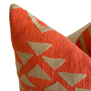 casa boho throw pillow decor home idea ideas room bedroom sofa couch coral orange tan taupe textured bohemian southwest desert inspired