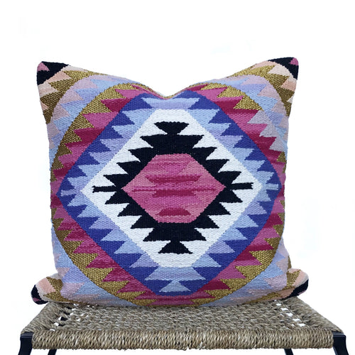 Metallic Kilim Pillow | Gold