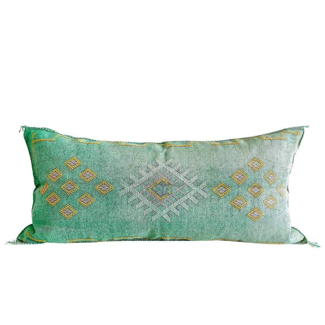 Cactus Silk Oversized Lumbar - Meadow