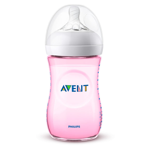 Biberón Avent Natural Rosa 260ml SCF034/17 Philips