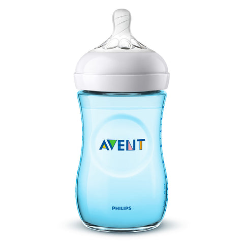 Biberón Avent Natural Azul 260ml SCF035/17 Philips