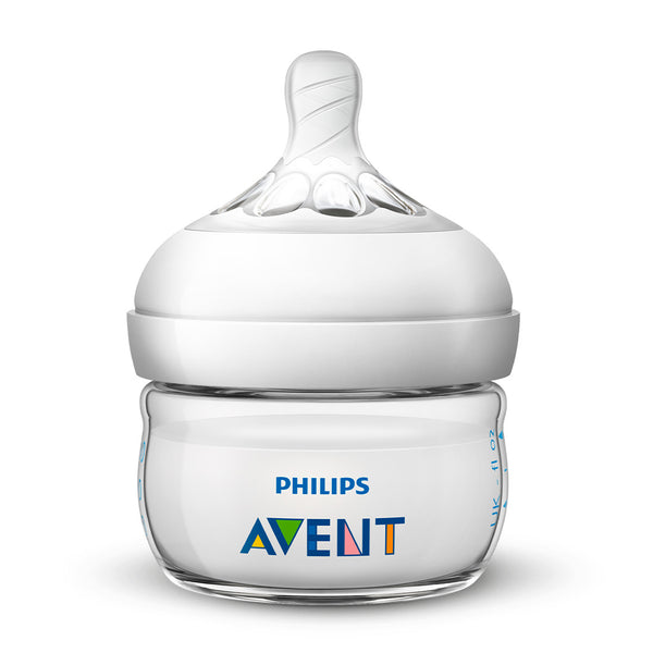 Biberón Avent Natural Traslucido 60ml SCF039/17 Philips
