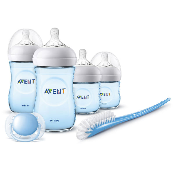 Set Biberones Avent Natural SCD301/04 Azul Philips
