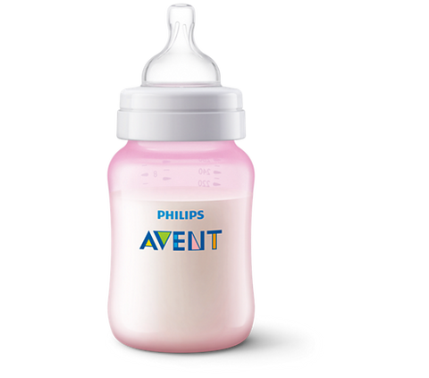 Biberón Philips Avent SCF564/17 Classic Plus PP 260ml Rosa