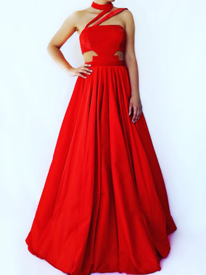 Elegant new years eve red gown