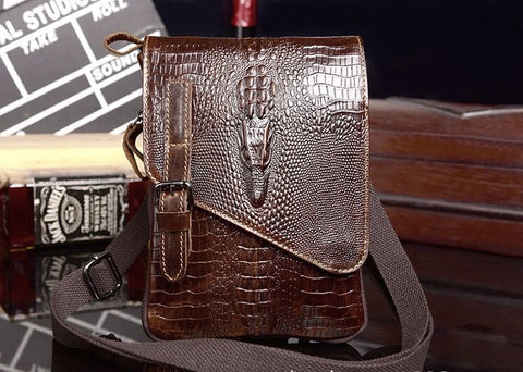 Crocodile Pattern Messenger Bag