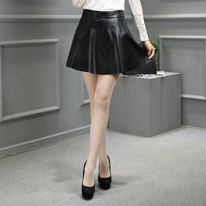 High-Waist Flared Skirt