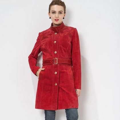 Mandarin-Collared Trench Coat