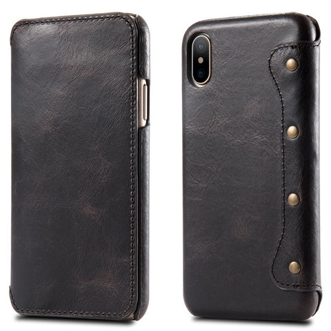 Luxury Leather Wallet Phone Case - Ultra Thin