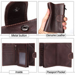 Wallet with Card and Passport Holder