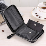 Short Wallet with Hasp Coin Pocket