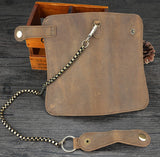 Curved Bifold Wallet with Metal Chain