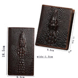 BIFOLD WALLET WITH ALLIGATOR SKIN PATTERN