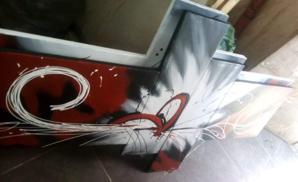 Hand Painted: Abstract White Lily - WallArtKenya- Art Kenya